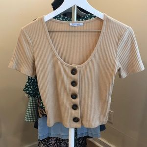 Zara crop top with buttons